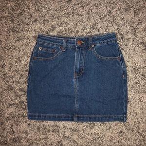 Deep Wash Denim Mini Skirt